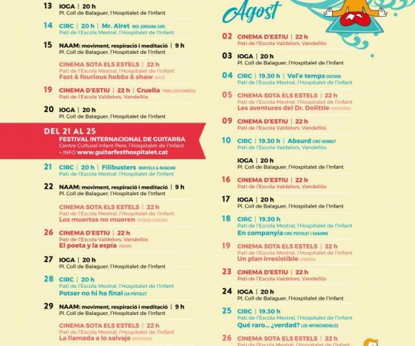 Actividades verano 2021 Vandellòs i l'Hospitalet de l'Infant