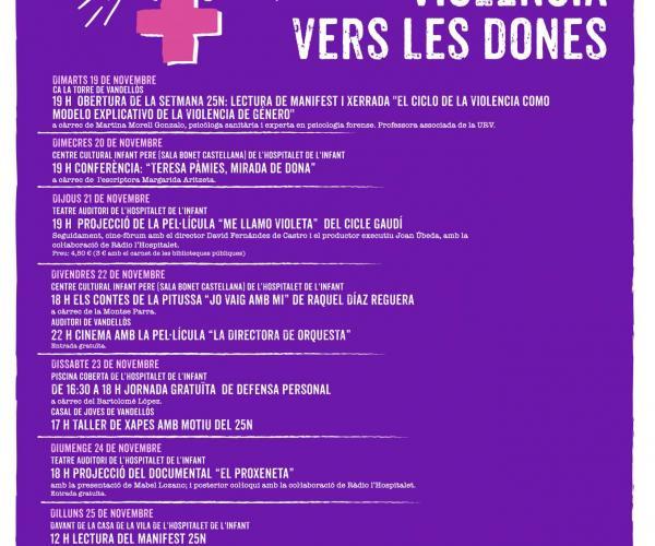 II Setmana contra la violència vers les dones - 25N