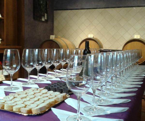 Tast de vins a l'agrobotiga