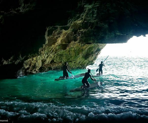 escuriones padel surf, excursions padel surf, platja del torn