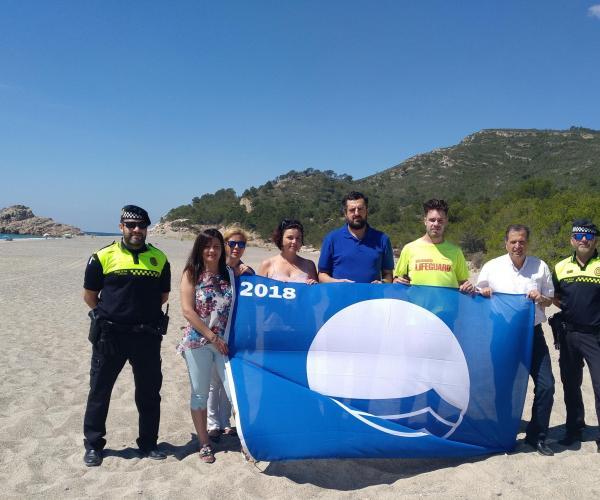 La Bandera Blava oneja ja a les platges de l'Arenal, de la Punta del Riu i del Torn de Vandellòs i l'Hospitalet de l'Infant