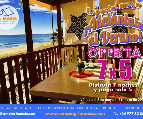 camping relax 7x5 playa vacaciones descansar