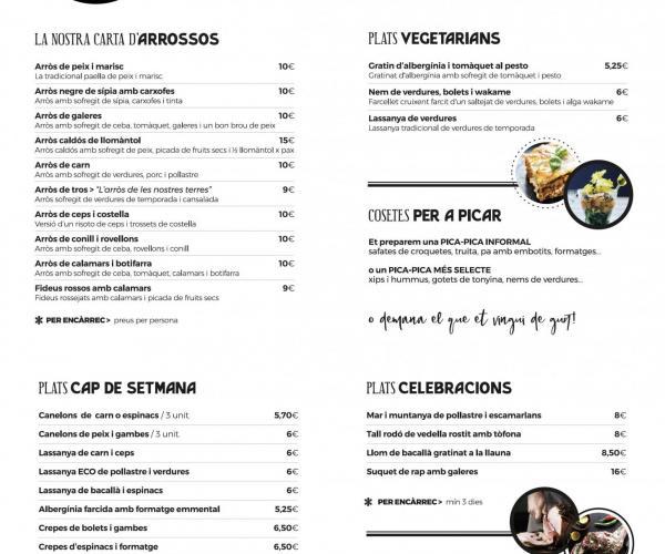 Cuinem deliciosos plats per a emportar: plats per a cada dia, per a dies especials, per a celebracions, etc.