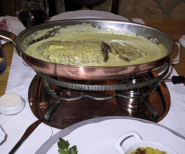 """Solomillo El Bistro con salsa """"mantequilla de hierbas"""""""
